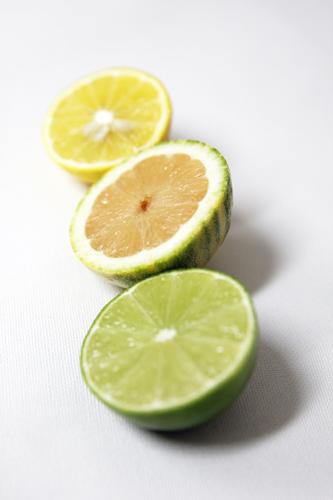top to bottom: meyer lemon, pink lemon and lime